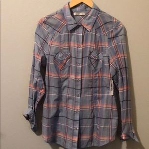 Women's Plaid Button-Down Shirt